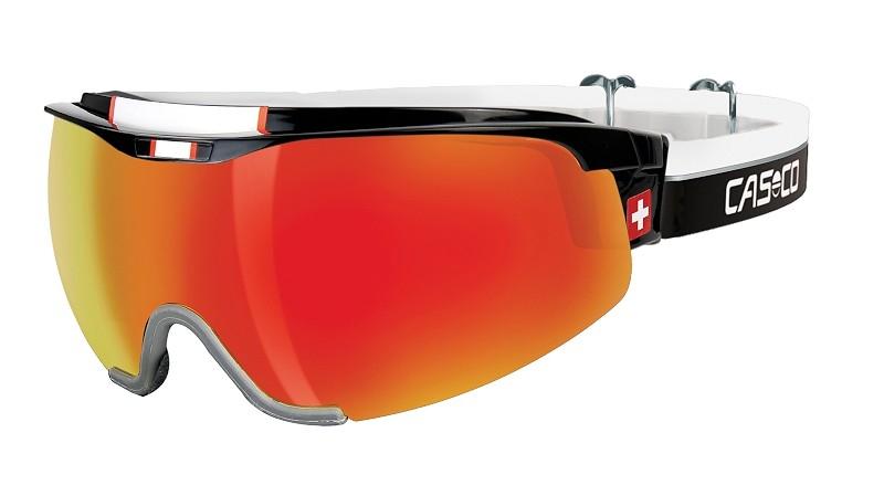 Очки-маска  CASCO SPIRIT Carbonic  black-red SWISS Edition