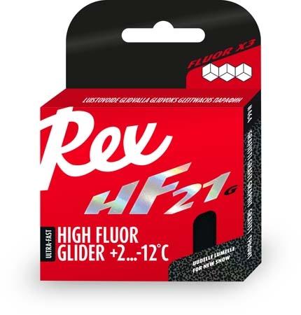Парафин с высоким содержанием фтора REX HF21 Graphite Racing Service Glider +2°...-12°С