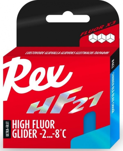 Парафин с высоким содержанием фтора REX 462 HF21 Blue +2…-8°C