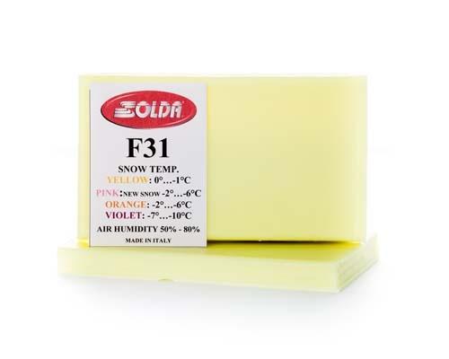 Парафин с высоким содержанием фтора SOLDA F31 желтый воздух -4°…+5°C /снег 0...-1°C
