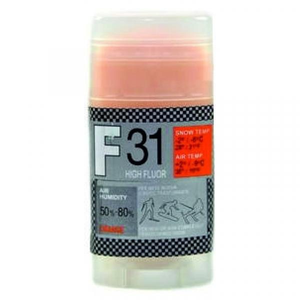 Парафин с высоким содержанием фтора  Solda F31 оранжевый.  воздух -9°…+2°C /снег -2...-6°C