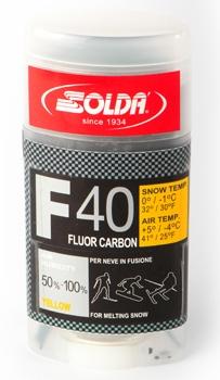 Парафин с высоким содержанием фтора SOLDA F40 CARBON желтый воздух -4°…+5°C /снег 0...-1°C