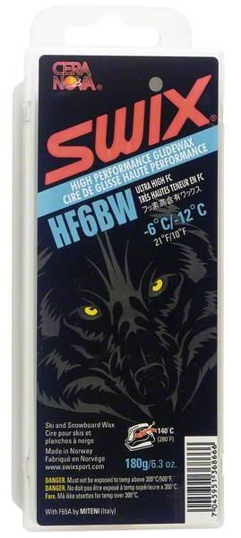Парафин с высоким содержанием фтора Swix HF6BW Black -6…-12°С