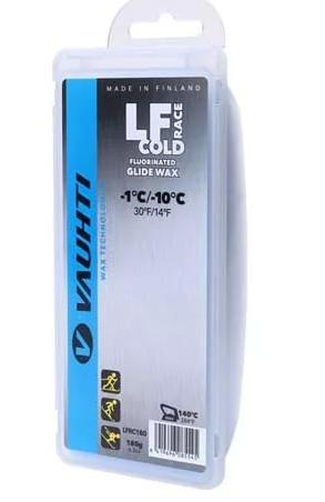 Парафин с содержанием фтора VAUHTI LF-RACE Cold синий 0°…-10°C