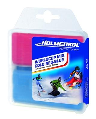 Парафин без содержания фтора HOLMENKOLMIX COLD красный/синий -4°…-14°C / -8°…-20°C