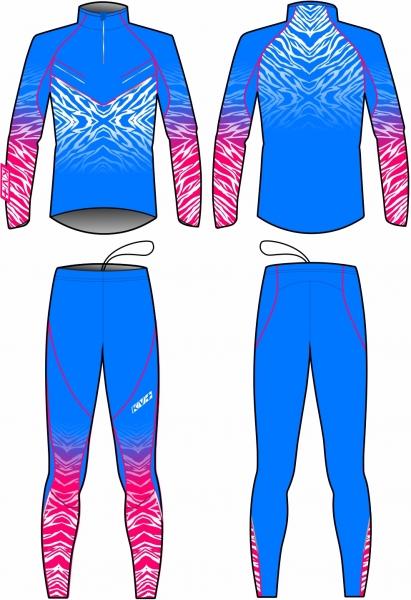 Раздельный комбинезон KV+TORNADO TWO PIECES SUIT UNISEX (blue)