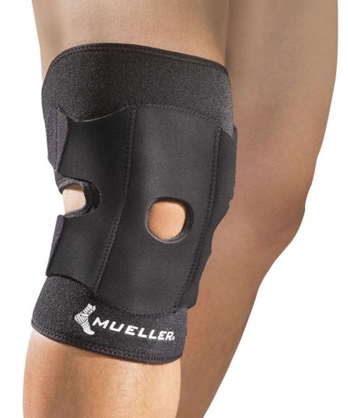 Бандаж на колено Mueller Mueller Adjustable Knee Support регулируемый с открытой коленной чашечкой