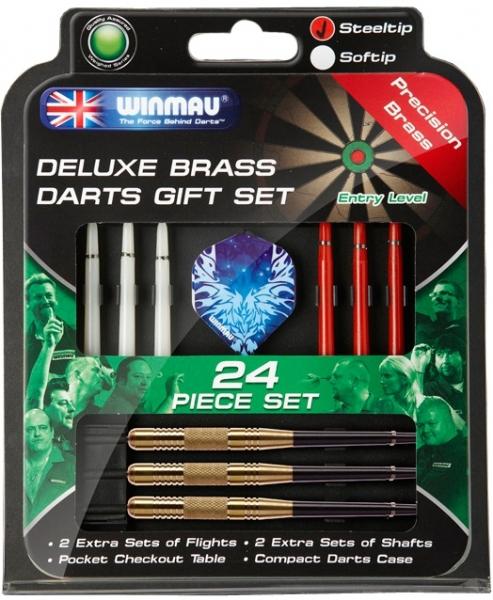 Набор из дротиков Winmau Brass steeltip 22gr и аксессуаров (начальный уровень)