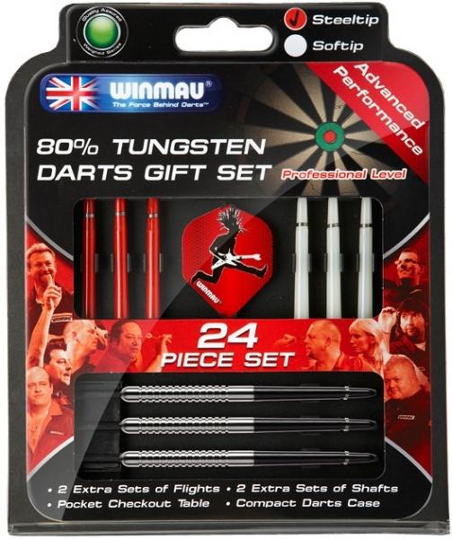 Набор из дротиков Winmau Tungsten steeltip 23gr и аксессуаров (средний уровень)