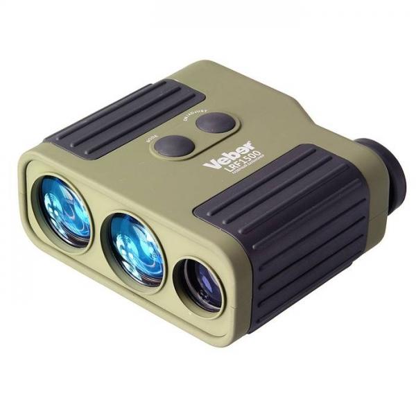 Дальномер лазерный Veber 7x25 LRF1500 green