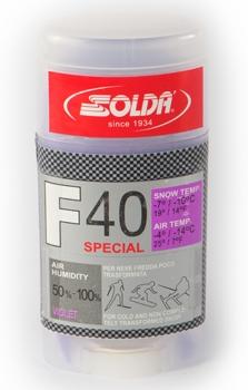 Парафин с высоким содержанием фтора SOLDA  F40 Special фиолетовый воздух -4°…-14°C /снег -7...-10°C