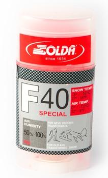 Парафин с высоким содержанием фтора Solda F40 Special красный воздух 0°…-13°C /снег -3...-10°C
