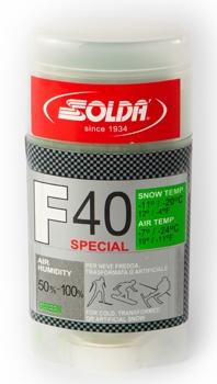 Парафин с высоким содержанием фтора Solda F40 Special зеленый, воздух -7°…-24°C /снег -11...-20°C