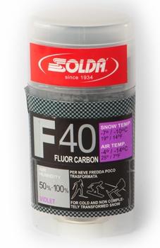 Парафин с высоким содержанием фтора Solda F40 Carbon фиолетовый воздух -4°…-14°C /снег -7...-10°C