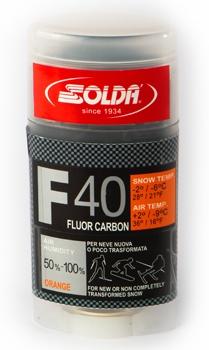 Парафин с высоким содержанием фтора Solda F40 Carbon оранжевый воздух -9°…+2°C /снег -2...-6°C