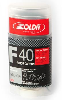 Парафин с высоким содержанием фтора SOLDA  F40 Carbon красный воздух 0°…-13°C /снег -3...-10°C