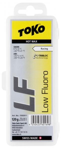 Парафин с содержанием фтора TOKO Tribloc LF, желтый. воздух -4°…+10°C /снег 0...-6°C