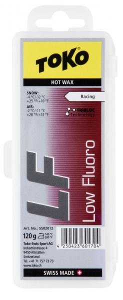 Парафин средней твёрдости TOKO LF Hot Wax красный, 120 гр., от -4 °С до -12 °С