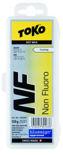 Парафин без содержания фтора TOKO Tribloc NF Hot Wax желтый воздух -4°…+10°C /снег 0...-6°C
