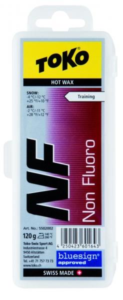 Парафин без содержания фтора TOKO Tribloc NF Hot Wax красный воздух -2°…-11°C /снег -4...-12°C