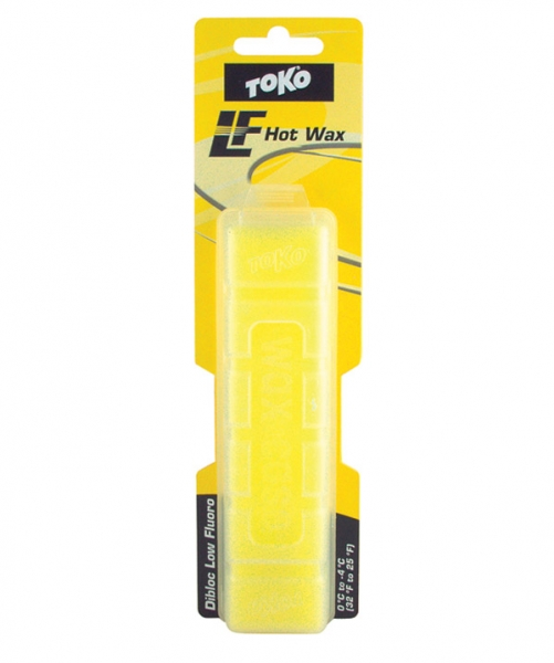Парафин с низким содержанием фтора TOKO LF Dibloc жёлтый 0°...-4°С