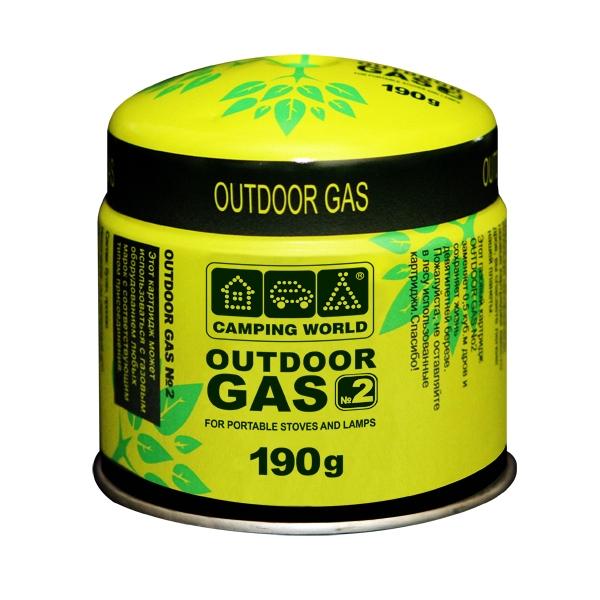 Баллон газовый прокольный Camping World Outdoor 190 г