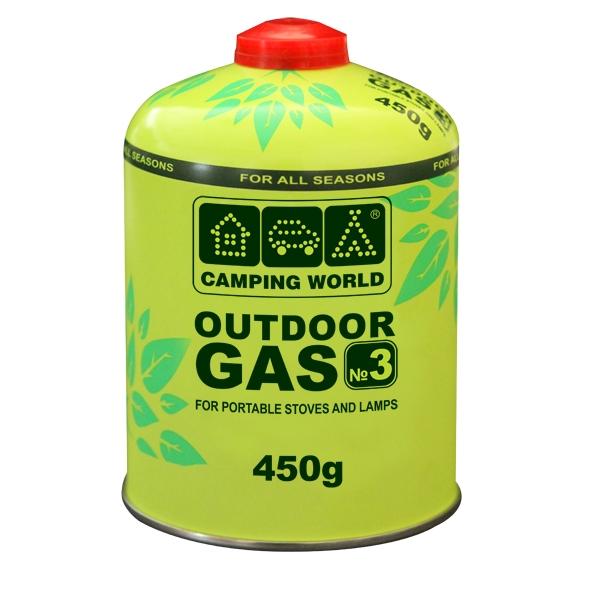 Баллон газовый резьбовой Camping World Outdoor 450 г