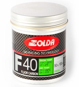 Ультравысокофторовый парафин в виде порошка Solda F40 Carbon зеленый
