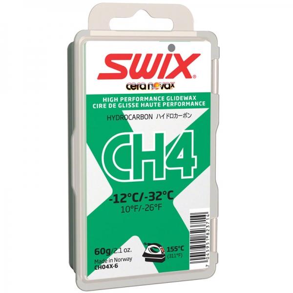 Парафин без содержания фтора SWIX CH4X Green -12…-32°С