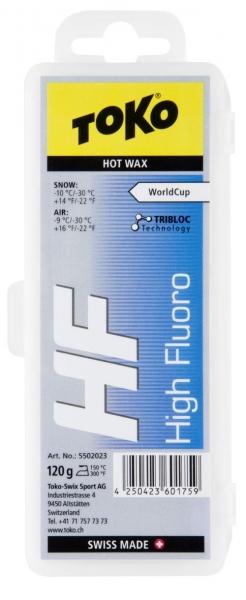 Парафин с высоким содержанием фтора TOKO HF TRIBLOC синий -10 °С до -30 °С